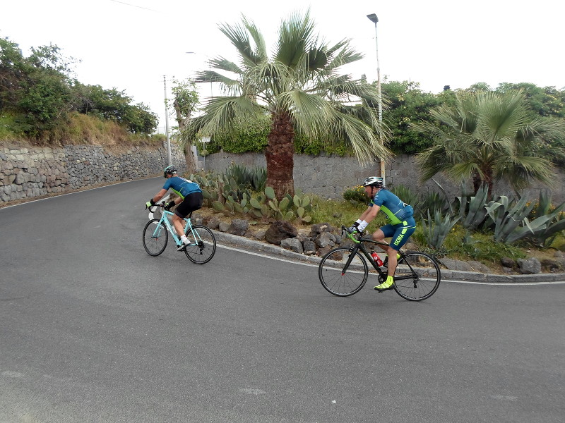 Ischia cycling sharp turns