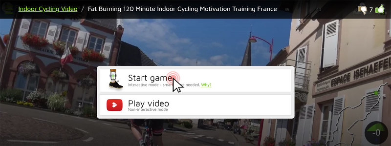 Start interactive cycling
