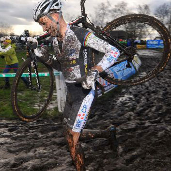 Cyclocross videos - indoor cycle the mud with us!